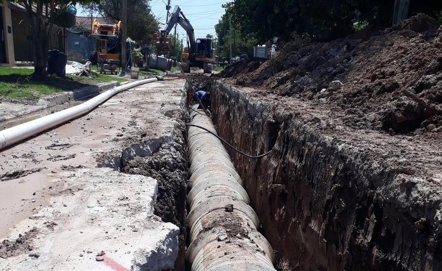 Avanzan las obras hidráulicas históricas en las localidades de Brown
