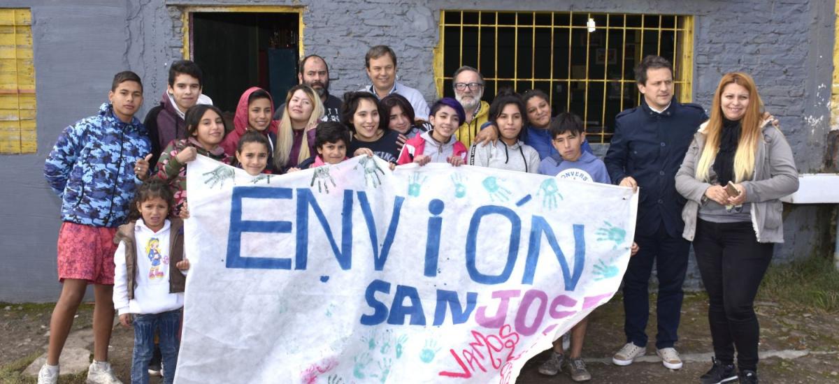 Cascallares almorzó con jóvenes del programa Envión