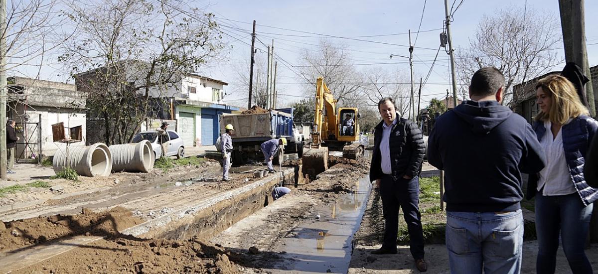 Avanzan importantes obras hidráulicas en Alte Brown