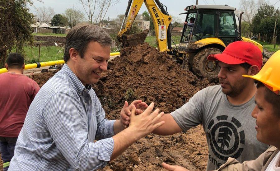 El municipio avanza con obras en Longchamps, Claypole y Adrogué