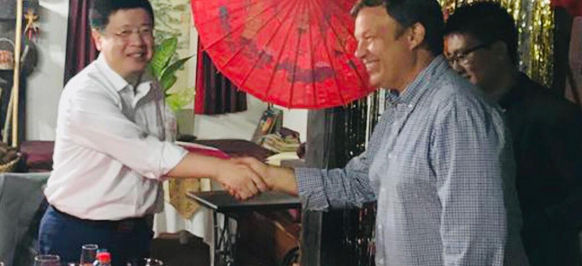 Cascallares junto al embajador de  China promocionó el potencal productivo de Alte Brown