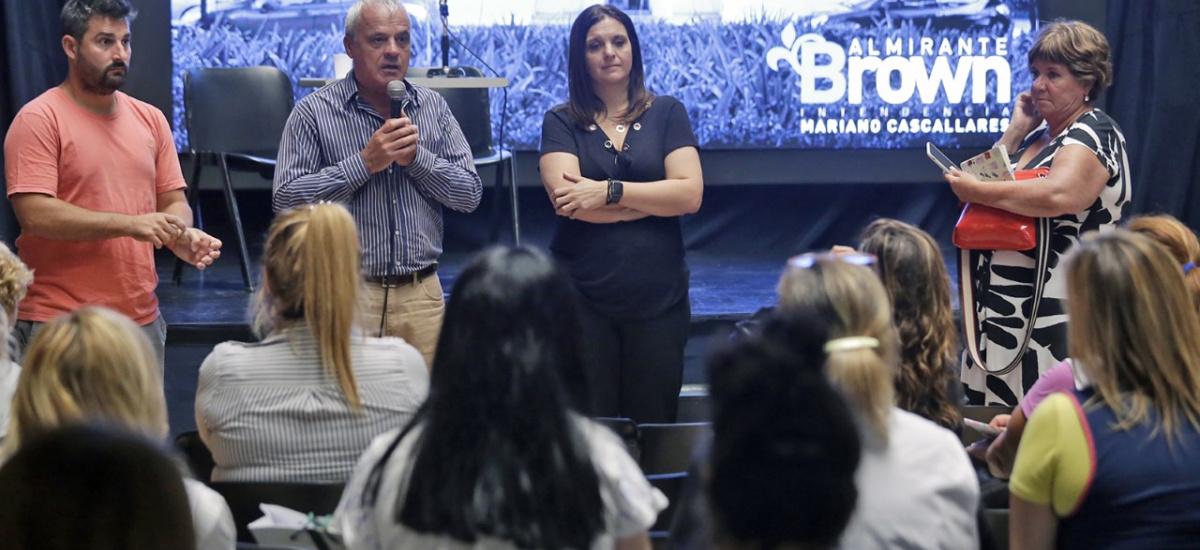 El municipio brindó charlas informativas a escuelas sobre dengue y coronavirus