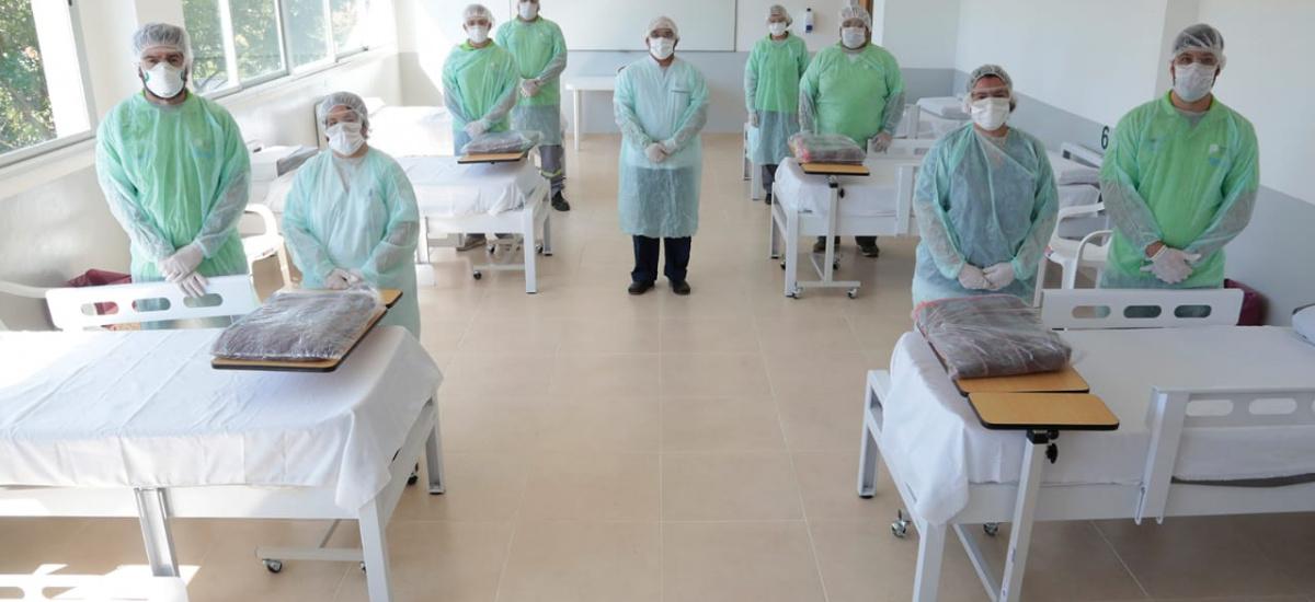 Transformaron al edificio del Instituto N° 41 en un centro de internación extrahospitalaria