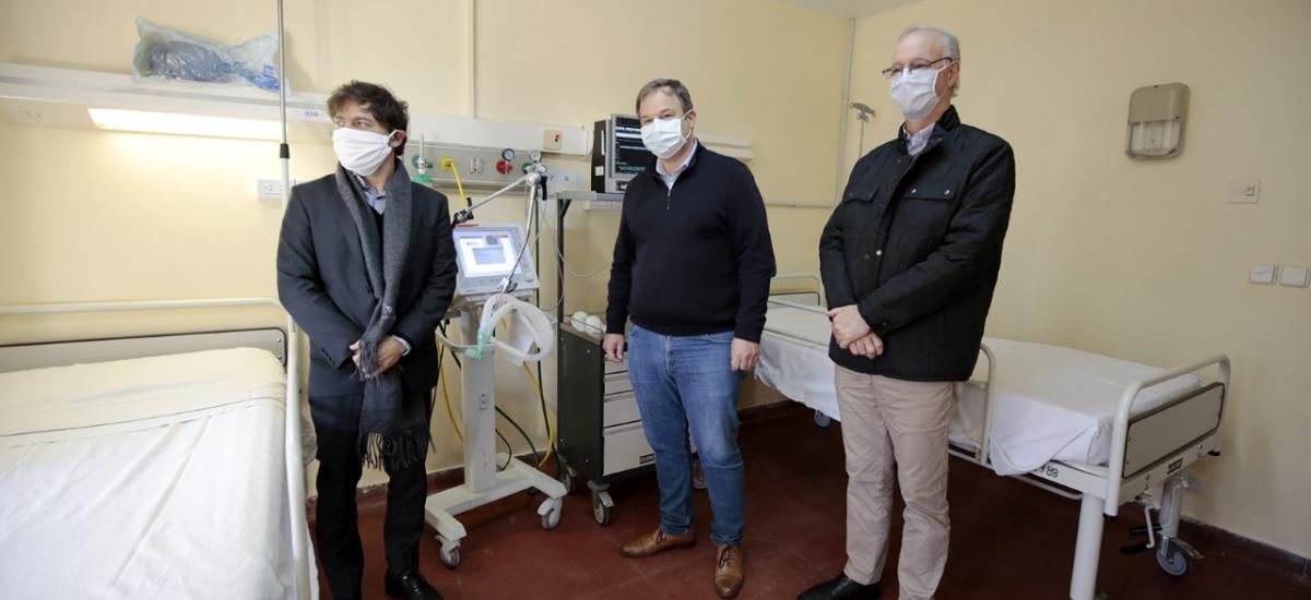 Cascallares recorrió junto a Axel Kicillof las obras del hospital Oñativia
