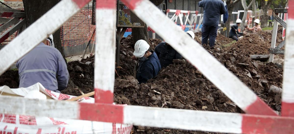 Avanzan las obras para abastecer de agua a 10 mil vecinos de Malvinas Argeninas