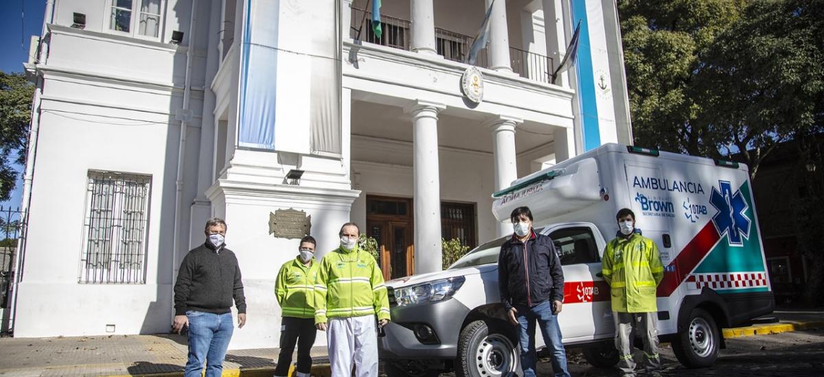 El municipio de Alte. Brown incorporó una ambulancia Covid 4 X 4 donada por Toyota
