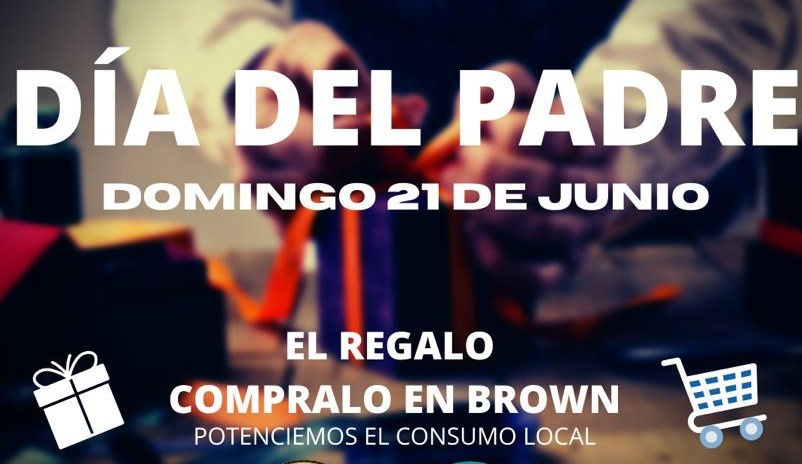 Día del Padre: En Alte. Brown lanzan campaña en defensa del comercio local