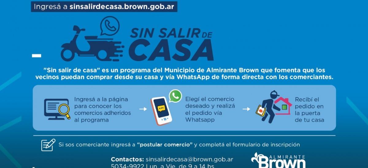 """""""Sin salir de casa"""", el programa de comercio online que sigue creciendo en Alte. Brown"""