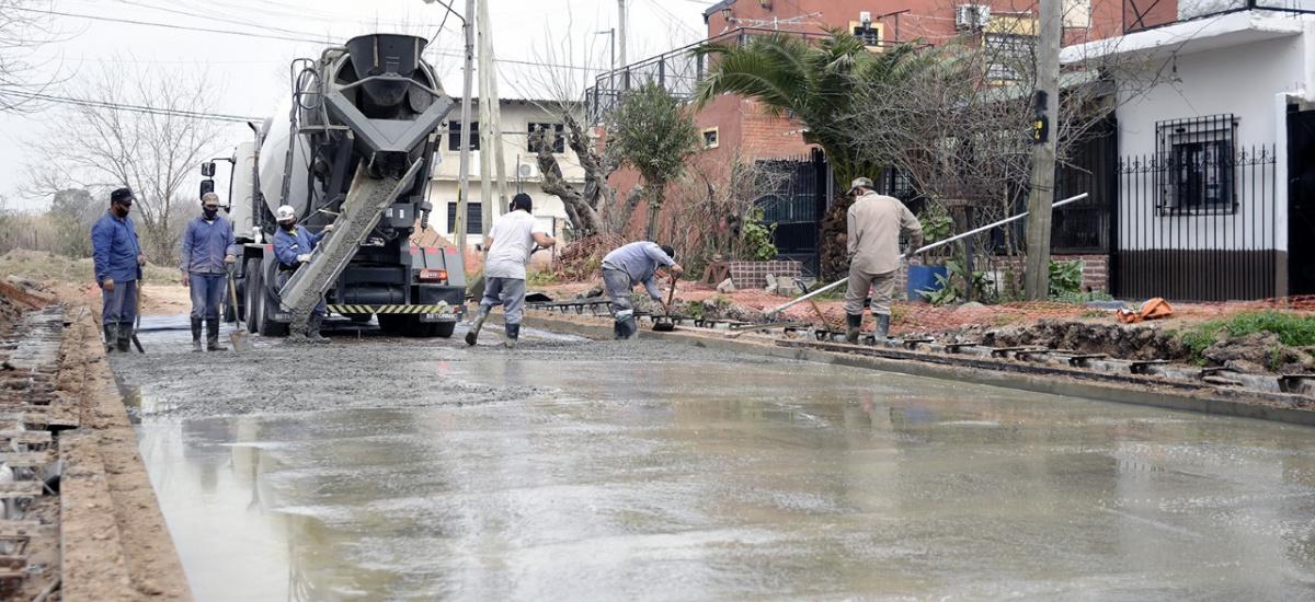 El municipio avanza con la urbanización de barrios de Don Orione