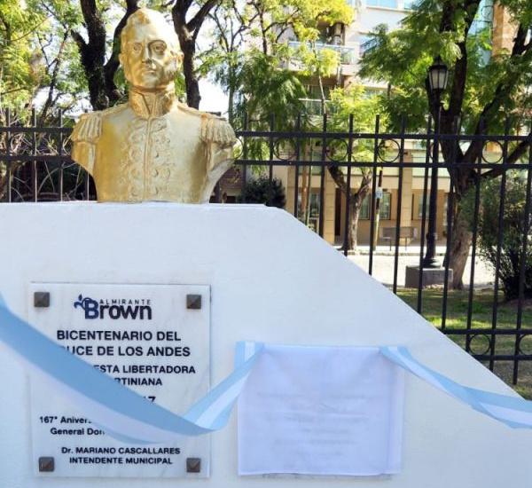 Emotivo homenaje al general San Martín a 170 años de su paso a la inmortalidad