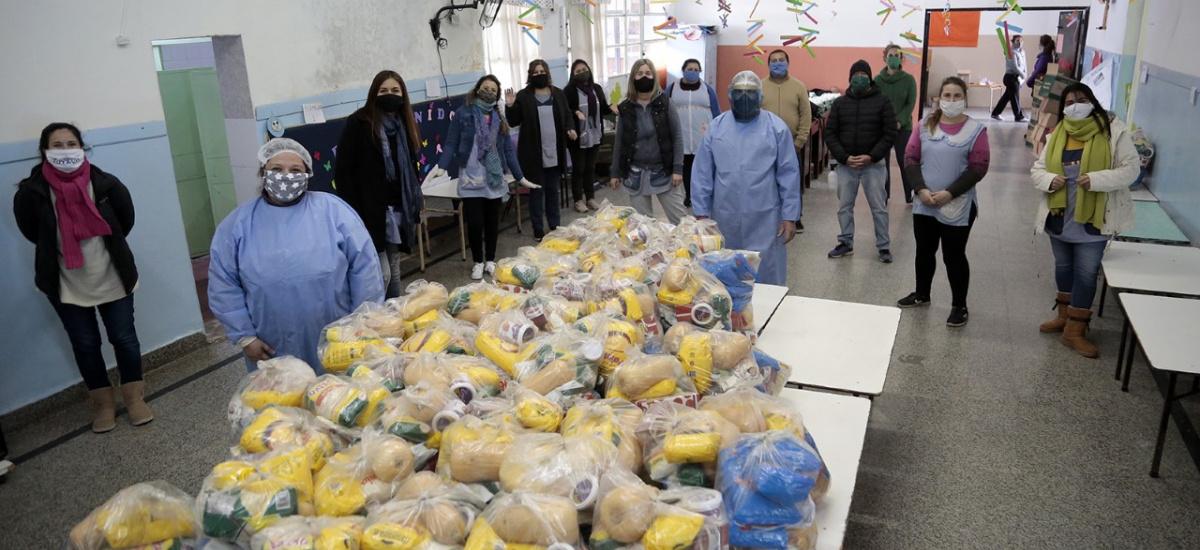 En el Mes de las Infancias el municipio sumó juguetes a los módulos del Servicio Alimentario Escolar