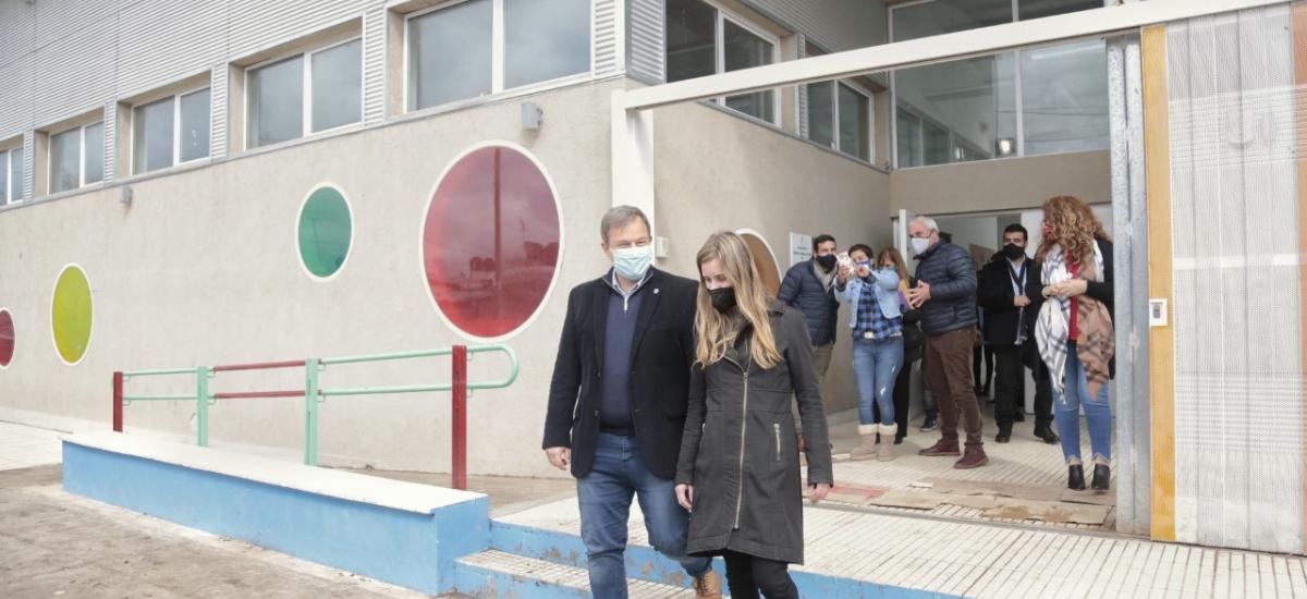 Cascallares y Vila recorrieron las obras de un nuevo polo educativo en Glew