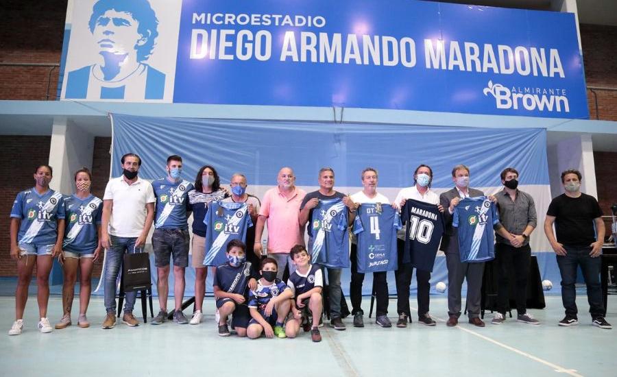 "Alte Brown bautizó ""Diego Armando Maradona"" a su microestadio municipal"