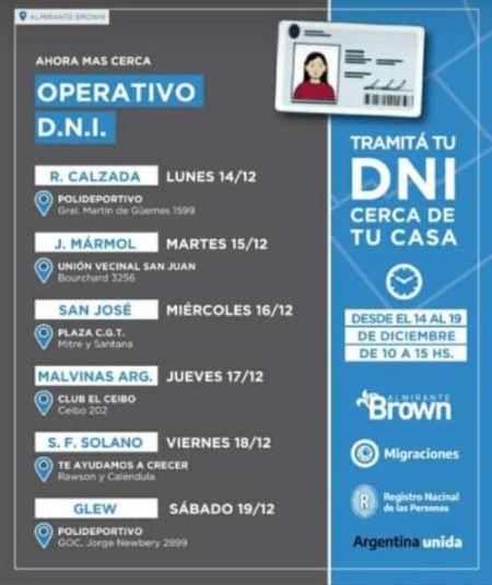 El municipio junto al ReNaPeR organiza operativos de tramitación del DNI