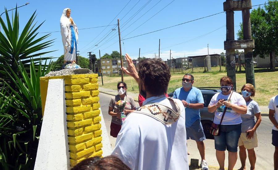 El municipio de Alte Brown repuso la virgen de Don Orione