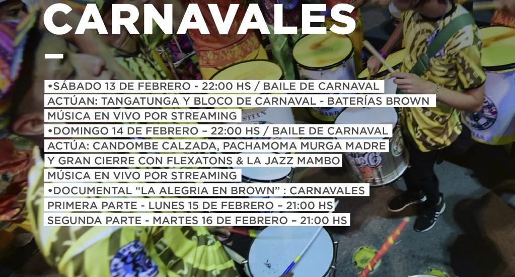 El Carnaval virtual llega a cada casa de Almirante Brown