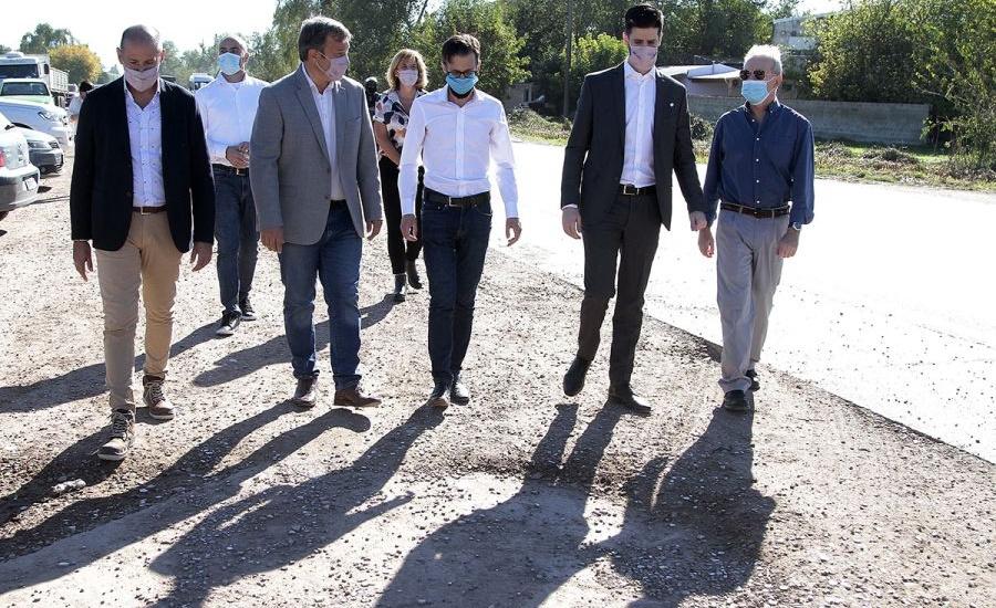 Cascallares y Simone inauguraron la histórica obra de repavimentación de la ruta 16