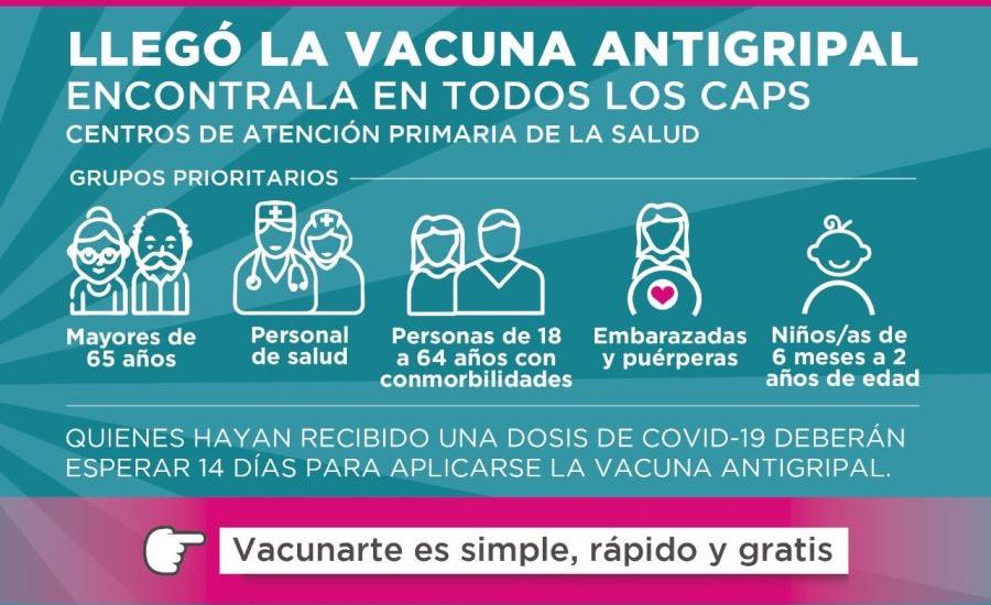 Comienza la campaña de vacunación antigripal en Almirante Brown