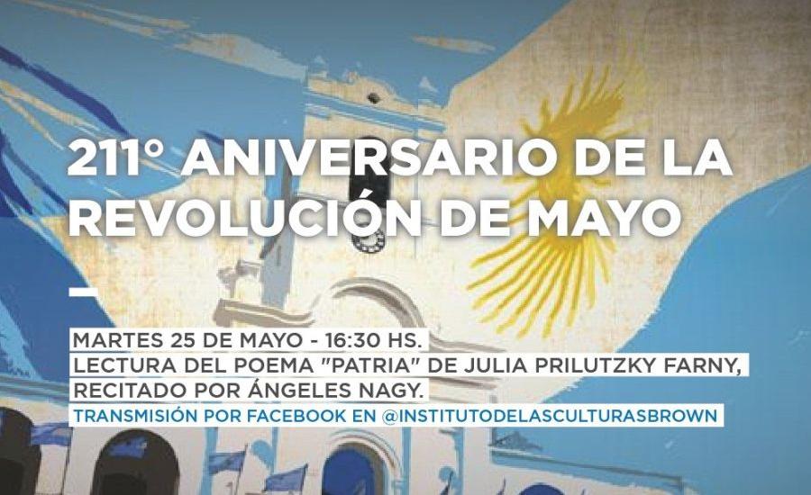 Este 25 de Mayo, el instituto de las culturas Brown realiza un festejo patrio virtual