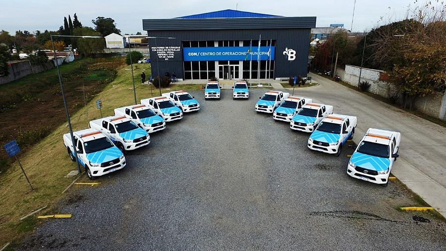 Cascallares entregó nuevos vehículos para las delegaciones municipales de Alte Brown