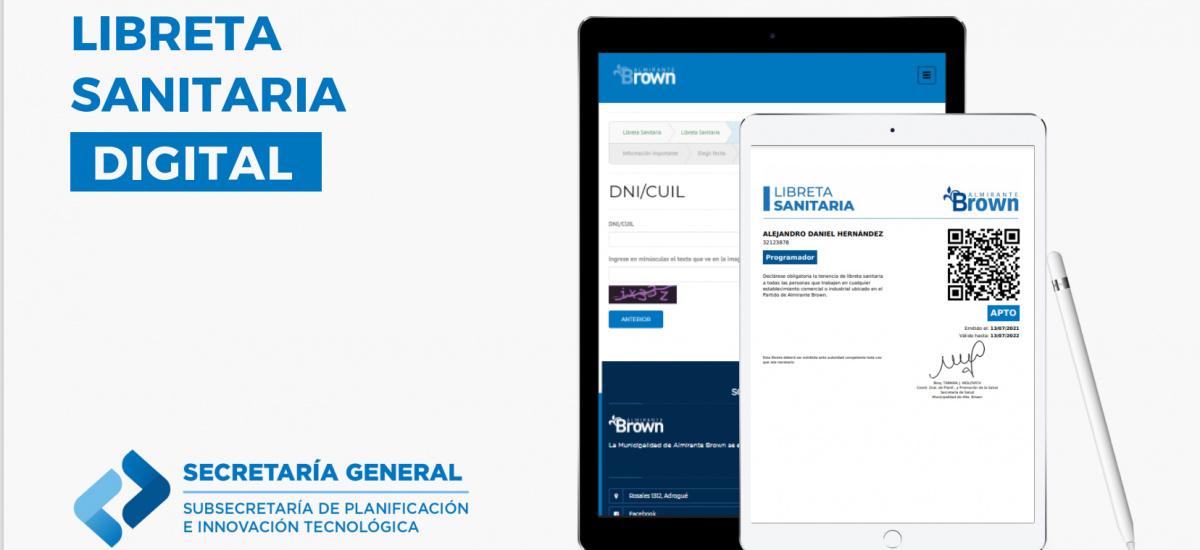 El Almirante Brown ya se puede gestionar en forna online la libreta sanitaria