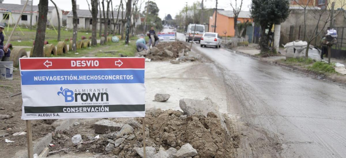 El municipio de Almirante Brown avanza con la recuperación de calles del distrito
