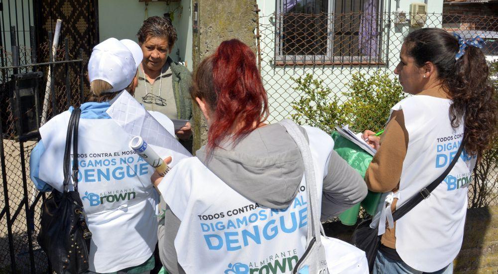 Operativos de fumigación y prevención del dengue en Glew, Malvinas y Calzada