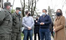 Cascallares y Frederic  supervisaron el despliegue de Gendarmería y la Policía Federal en Alte. Brown