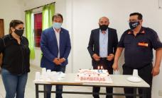 Cascallares y Vilotta junto a los bomberos voluntarios en su 56° aniversario