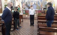 Cascallares recorrió la parroquia Santa Ana y obras en Glew en su 155° aniversario