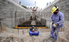 Cascallares y el ministro de Infraestructura bonaerense recorrieron obras en Don Orione