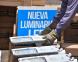 El municipio de Alte Brown avanza con la instalación de luces led en el distrito